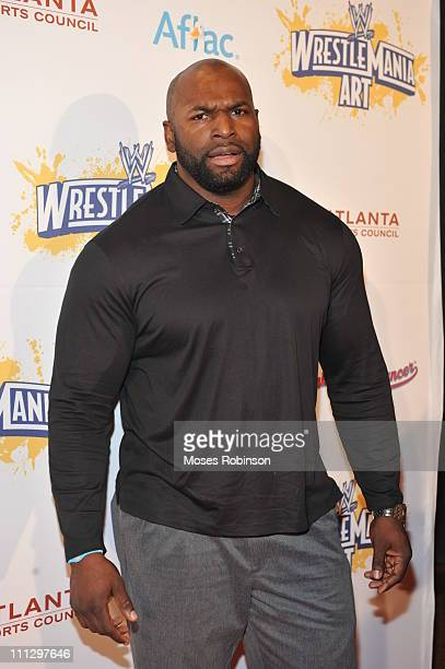 Wrestler Ezekiel attends WWE's 4th annual WrestleMania art exhibit and auction at The Egyptian Ballroom at Fox Theatre on March 30 2011 in Atlanta...