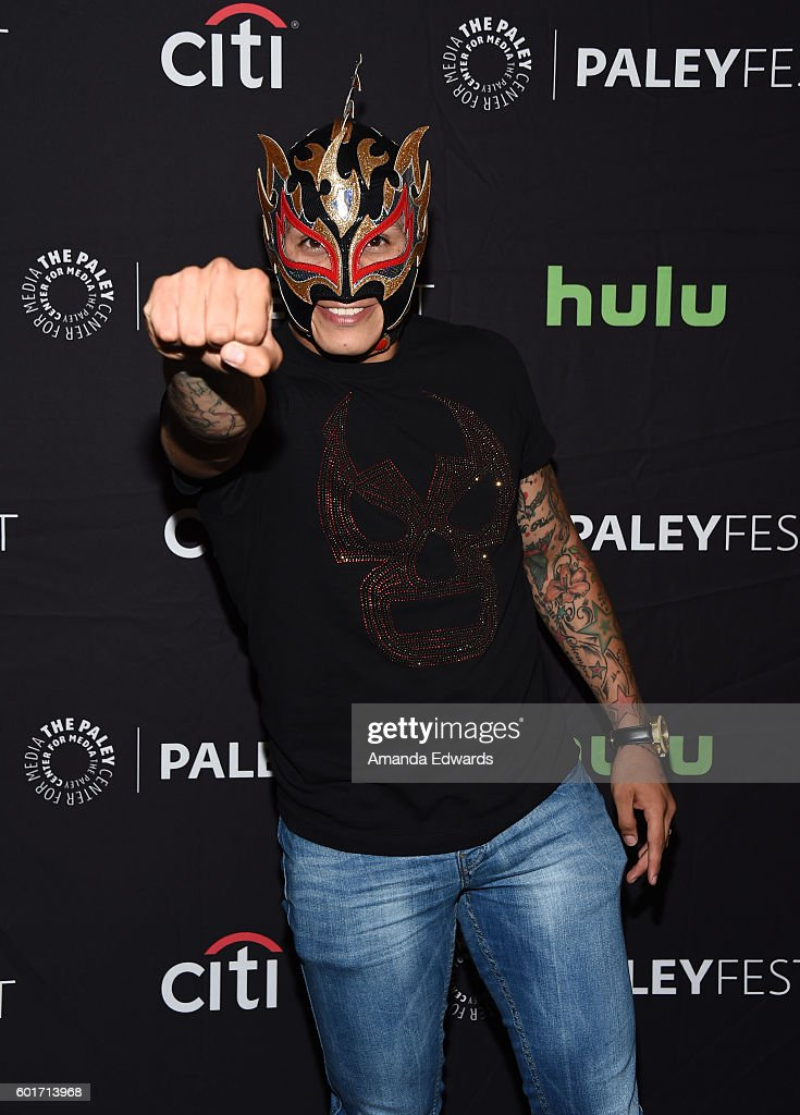 Wrestler Fenix arrives at The Paley Center for Media's PaleyFest 2016 Fall TV Preview of El Rey at The Paley Center for Media on September 9, 2016 in Beverly Hills, California.