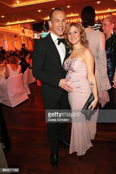 Wrestler Frank Steltner and his wife Sandra Steltner pregnant during the 'Sportler des Jahres 2017' Gala at Kurhaus BadenBaden on December 17 2017 in...