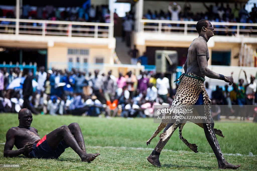 SSUDAN-WRESTLING-NATIONAL-COMPETITION : News Photo
