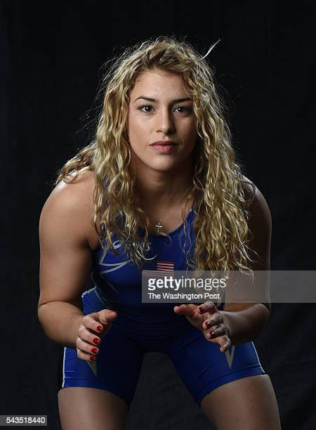 Wrestler Helen Maroulis at the Olympic media summit on March 9, 2016 in Los Angeles, CA.