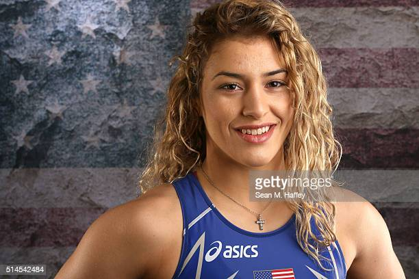 Wrestler Helen Maroulis poses for a portrait at the 2016 Team USA Media Summit at The Beverly Hilton Hotel on March 9, 2016 in Beverly Hills,...