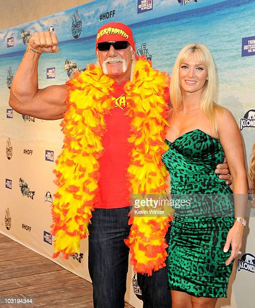 Wrestler Hulk Hogan and Jennifer McDaniel arrive at the Comedy Central Roast Of David Hasselhoff held at Sony Pictures Studios on August 1 2010 in...