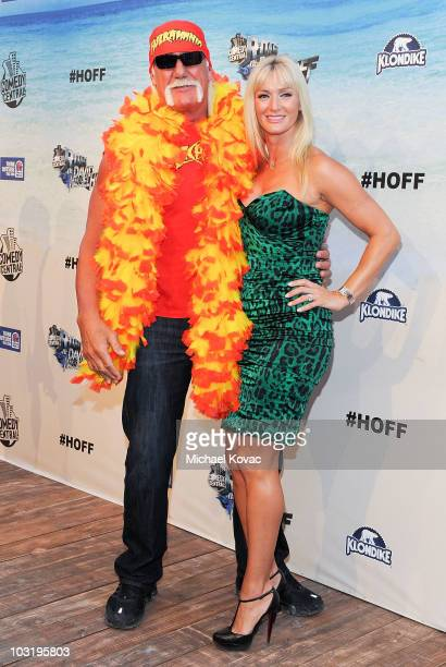 Wrestler Hulk Hogan and Jennifer McDaniel arrive at the Comedy Central Roast Of David Hasselhoff held at Sony Pictures Studios on August 1, 2010 in...