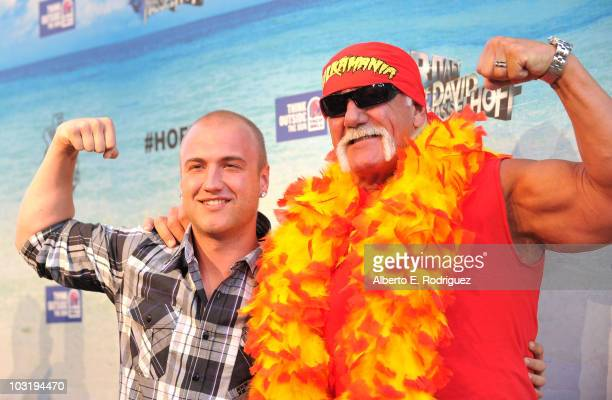 Wrestler Hulk Hogan and son Nick Hogan arrive at the Comedy Central Roast Of David Hasselhoff held at Sony Pictures Studios on August 1 2010 in...