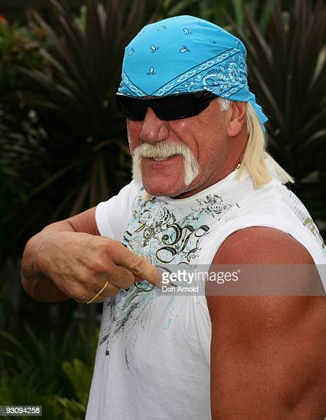 Wrestler Hulk Hogan arrives at Sydney Airport on November 17 2009 in Sydney Australia