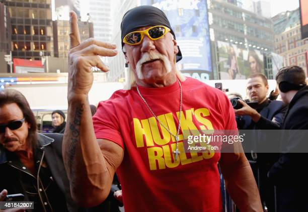 Wrestler Hulk Hogan attends the WrestleMania 30 press conference at the Hard Rock Cafe New York on April 1 2014 in New York City