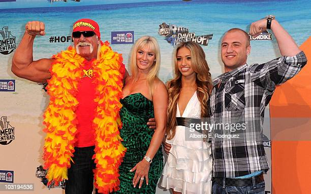 Wrestler Hulk Hogan Jennifer McDaniel Bre Tiesi and Nick Hogan arrive at the Comedy Central Roast Of David Hasselhoff held at Sony Pictures Studios...