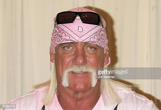 """Wrestler Hulk Hogan promotes """"My Life Outside The Ring"""" at Barnes & Noble 5th Avenue on October 27, 2009 in New York City."""