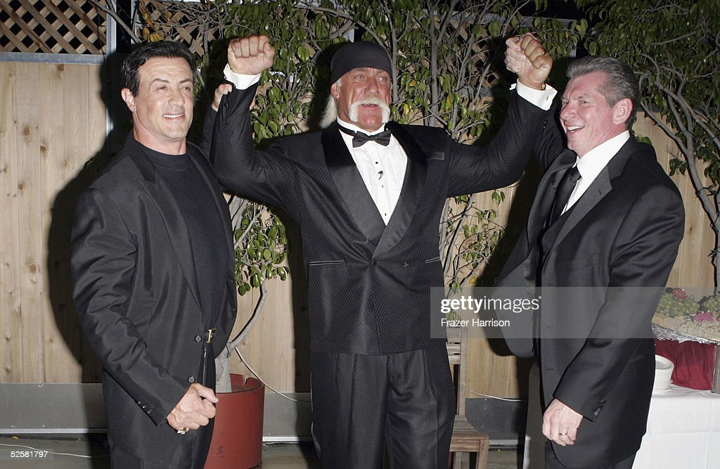Sylvester Stallone Inducts Hulk Hogan into WWE Hall of Fame : News Photo