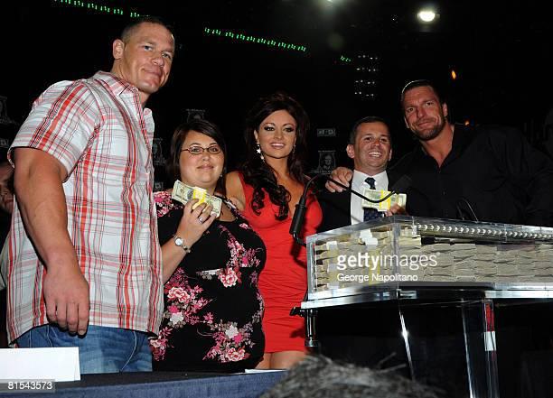 Wrestler John Cena $2 dollar winner Sarah Fuhrmann from KellerTexas WWE Diva Maria $250000 winner Steven Rosenzweig from Mount Horeb Wisconsin and...