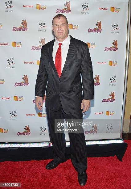 Wrestler Kane attends the Scooby Doo WrestleMania Mystery New York Premiere at Tribeca Cinemas on March 22 2014 in New York City