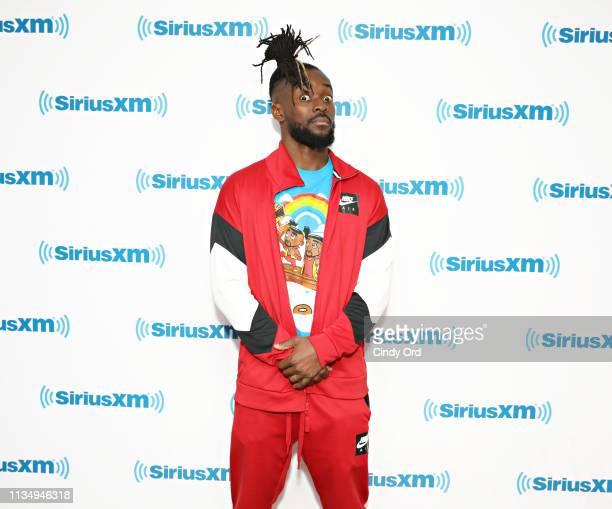 Wrestler Kofi Kingston visits the SiriusXM Studios on April 4 2019 in New York City