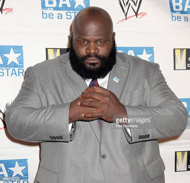 Wrestler Mark Henry at the WWE and The Creative Coalition's Be A STAR bullying prevention rally at James Madison Middle School on February 10 2014 in...