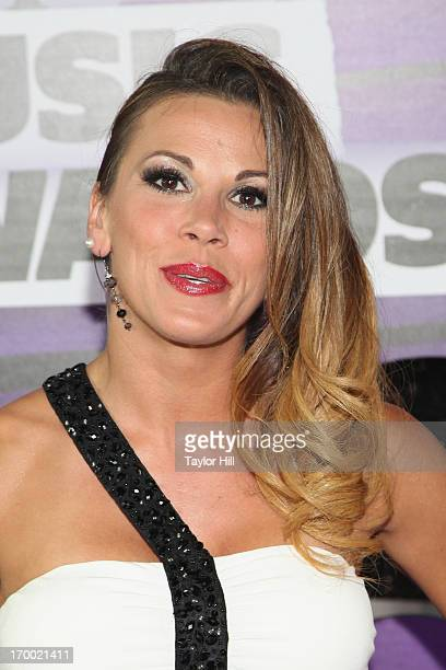 Wrestler Mickie James attends the 2013 CMT Music awards at the Bridgestone Arena on June 5 2013 in Nashville Tennessee