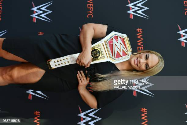 Wrestler Nia Jax arrives at the firstever WWE Emmy For Your Consideration event at the TV Academy Saban Media Center in North Hollywood on June 6 2018