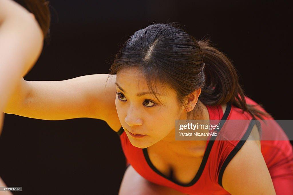Wrestler Prepared to Fight : Stock Photo