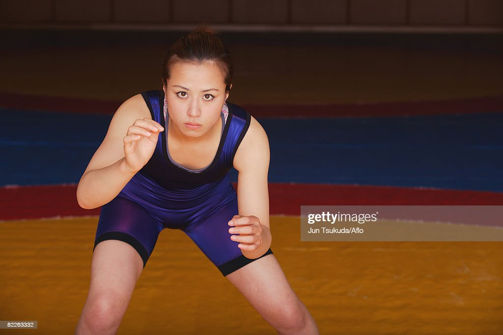 Wrestler Prepared to Fight : Stock Photo