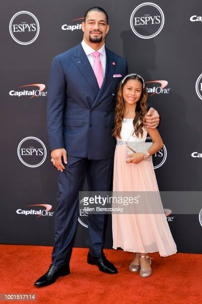 Wrestler Roman Reigns attends The 2018 ESPYS at Microsoft Theater on July 18 2018 in Los Angeles California
