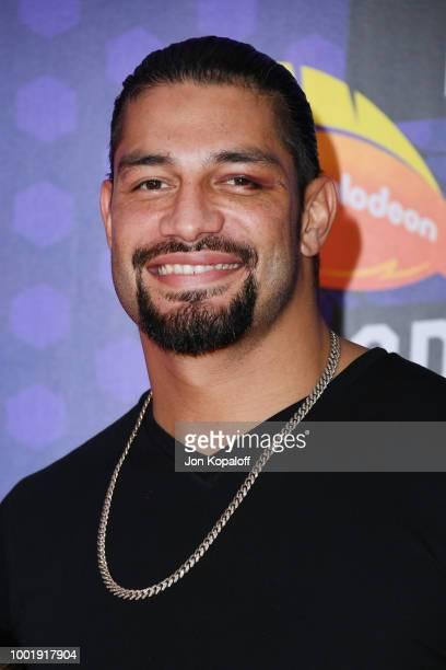 WWE wrestler Roman Reigns attends the Nickelodeon Kids' Choice Sports 2018 at Barker Hangar on July 19 2018 in Santa Monica California