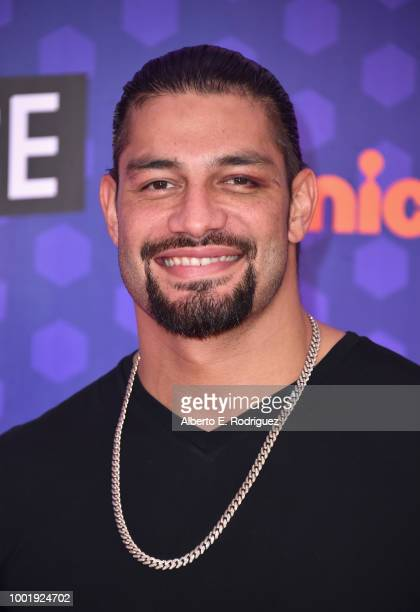 Wrestler Roman Reigns attends the Nickelodeon Kids' Choice Sports 2018 at Barker Hangar on July 19 2018 in Santa Monica California