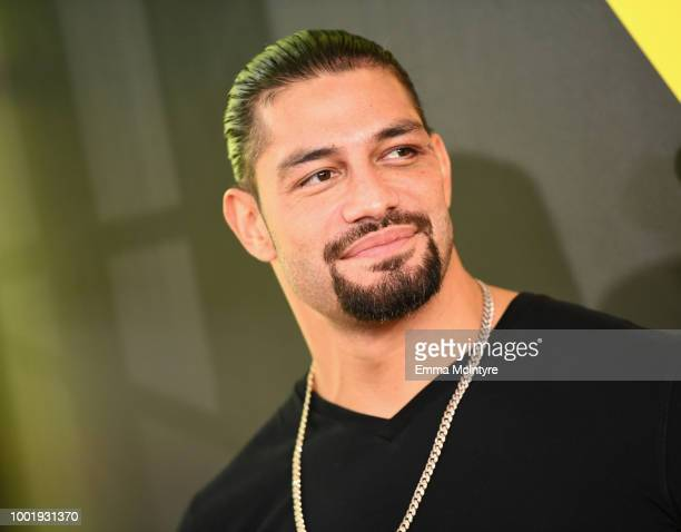Wrestler Roman Reigns attends the Nickelodeon Kids' Choice Sports 2018 at Barker Hangar on July 19 2018 in Santa Monica California
