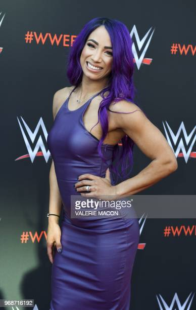 Wrestler Sasha Banks arrives at the firstever WWE Emmy For Your Consideration event at the TV Academy Saban Media Center in North Hollywood on June 6...