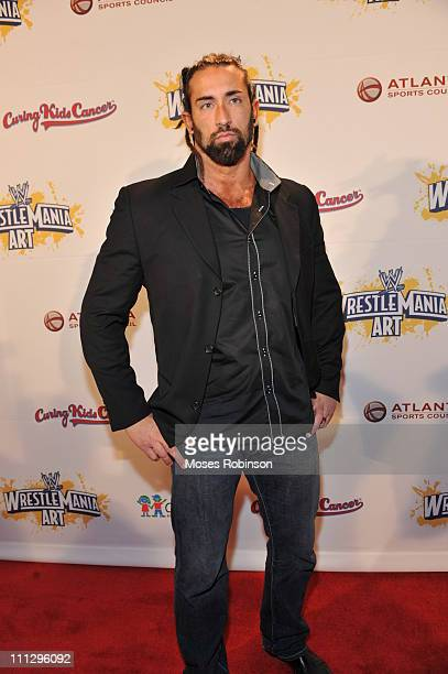 Wrestler Tyler Reks attends WWE's 4th annual WrestleMania art exhibit and auction at The Egyptian Ballroom at Fox Theatre on March 30 2011 in Atlanta...