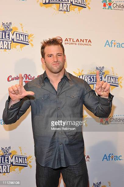 Wrestler Zach Ryder attends WWE's 4th annual WrestleMania art exhibit and auction at The Egyptian Ballroom at Fox Theatre on March 30 2011 in Atlanta...