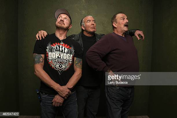 Wrestlers Diamond Dallas Page Scott Hall and Jake 'The Snake' Roberts from 'The Resurrection of Jake The Snake Roberts' pose for a portrait at the...