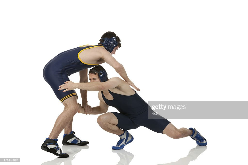 Wrestlers in action : Stock Photo