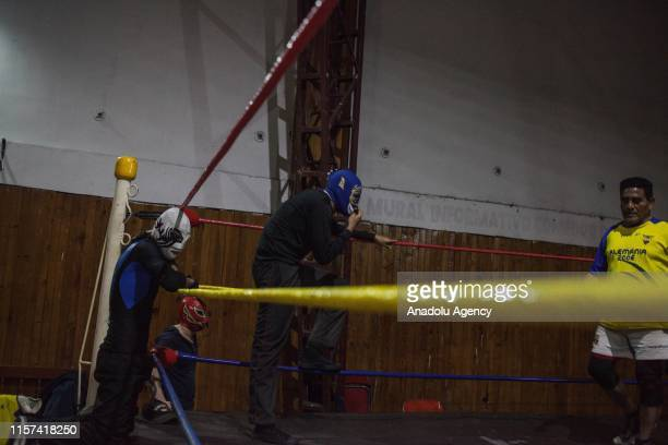 Wrestlers of the Colombian Wrestling Superstars train in Bogota, Colombia on July 23, 2019. Sport that refuses to die, gradually recovering the gap...