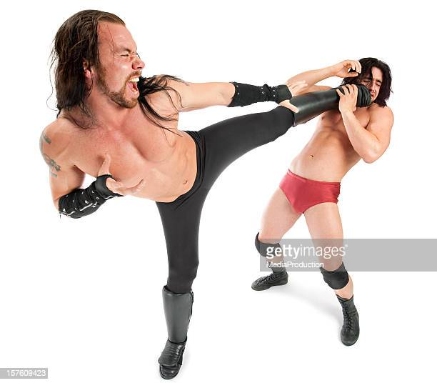 wrestlers - rough housing stock photos and pictures
