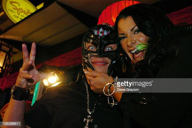 WWE Wrestlers Rey Mysterio and Victoria during First Annual Spike TV Video Game Awards Arrivals at MGM Grand Arena in Las Vegas Nevada United States