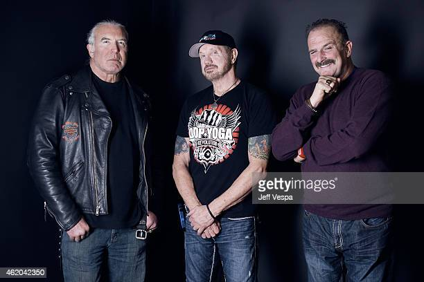 Wrestlers Scott Hall Diamond Dallas Page and Jake 'The Snake' Roberts from 'The Resurrection of Jake The Snake Roberts' pose for a portrait at the...
