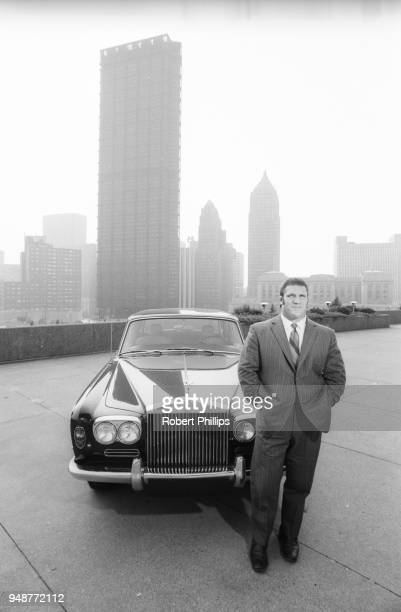 Casual portrait of Bruno Sammartino in front of his Rolls Royce car outside of Civic Arena. Pittsburgh, PA 8/13/1971 CREDIT: Robert Phillips