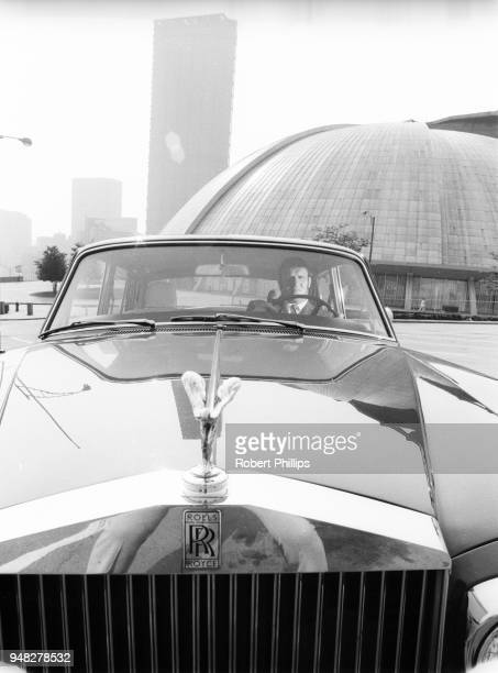 Casual portrait of Bruno Sammartino in his Rolls Royce car outside of Civic Arena Pittsburgh PA CREDIT Robert Phillips