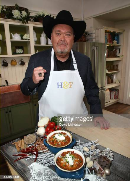 Wrestling commentator Jim Ross visits Hallmark's 'Home Family' at Universal Studios Hollywood on January 3 2018 in Universal City California