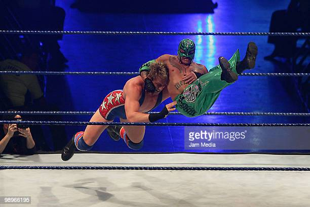 Wrestling fighters Jack Swagger and Rey Misterio fight during the WWE Smackdown Wrestling at Arena Monterrey on May 9 2010 in Monterrey Mexico Photo...