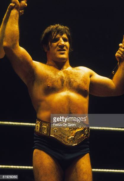 Wrestling legend Bruno Sammartino is declared the champion.