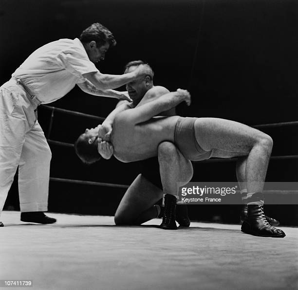 Wrestling Match In Paris On March 1958