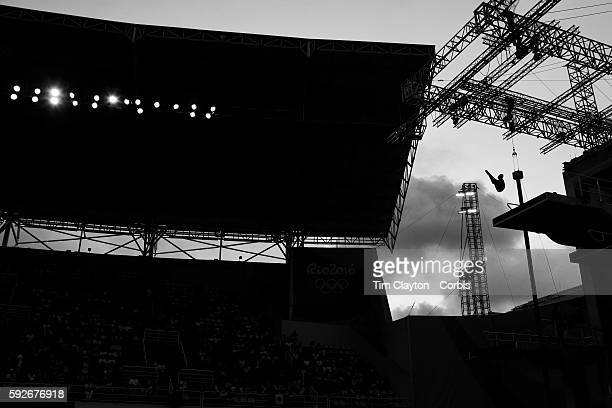 Day 13 Qian Ren of the People's Republic of China performing one of her dives during her gold medal performance during the Women's 10m Platform Final...
