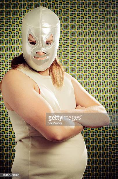 lucha libre - female wrestling stock photos and pictures
