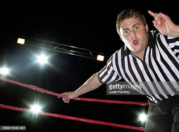 wrestling referee counting - referee stock pictures, royalty-free photos & images