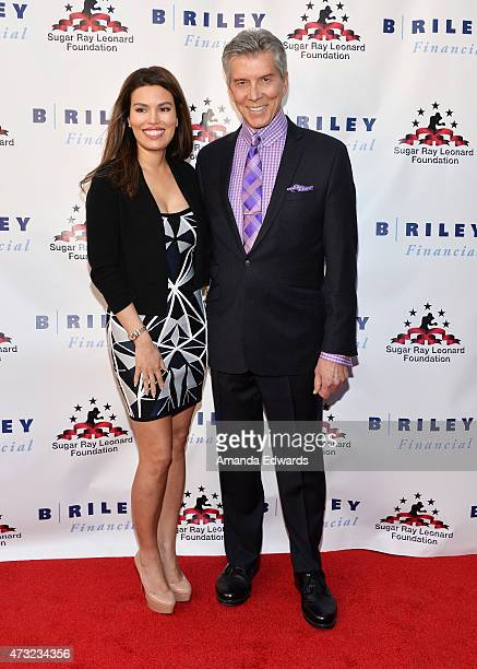 Wrestling ring announcer Michael Buffer and his wife Christine Buffer arrive at the 6th Annual Big Fighters Big Cause Charity Boxing Night at the...