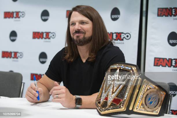 Wrestling superstar AJ Styles attends the 2018 Fan Expo Canada at Metro Toronto Convention Centre on August 30, 2018 in Toronto, Canada.