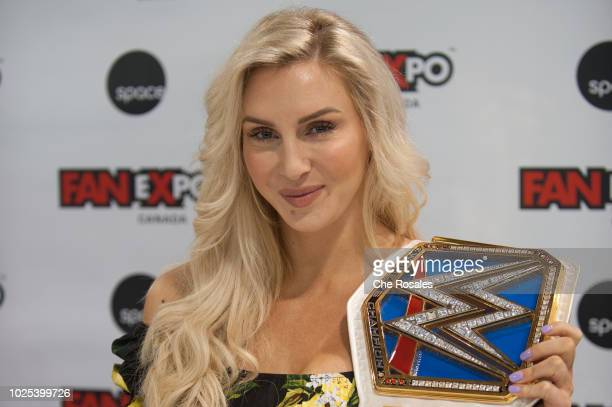 Wrestling superstar Charlotte Flair attends the 2018 Fan Expo Canada at Metro Toronto Convention Centre on August 30 2018 in Toronto Canada
