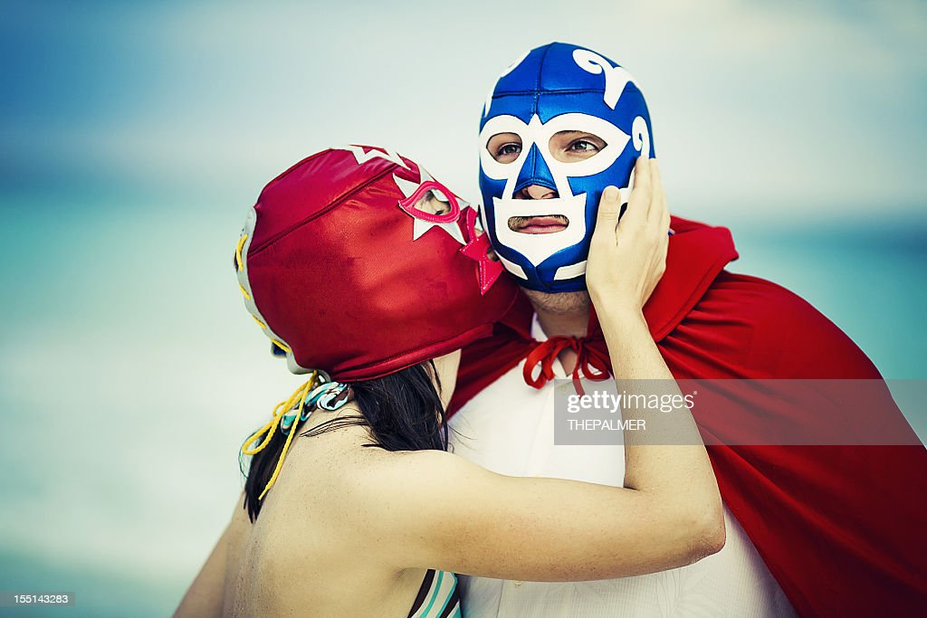 lucha libre tenderness : Stock Photo