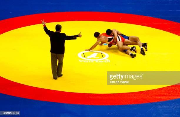 World Freestyle Championships /Men Hommes 74 Kg Laliyev Gennadiv Habibi Hadi Madison Square Garden Championat Du Monde Lute Freestyle