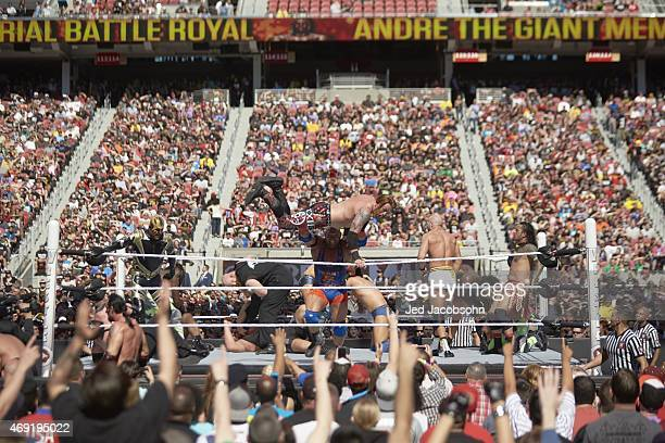 WrestleMania 31 View of miscellaneous action during Andre the Giant Memorial Battle Royal portion of event at Levi's Stadium Santa Clara CA CREDIT...
